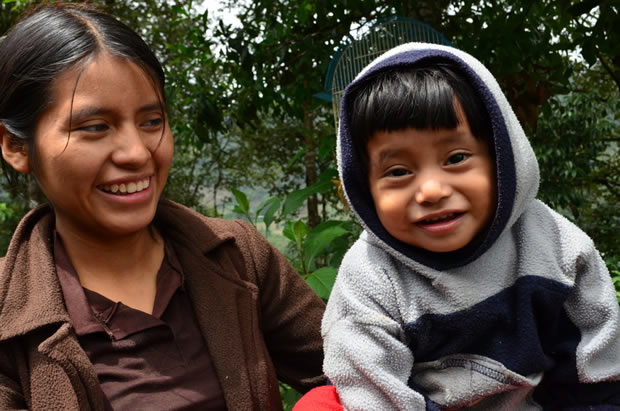 Petrona and her youngest son, Benjamin, are actively part of CWS-supported food security programs in Guatemala. Photo: Nancy Vásquez