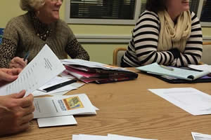 CROP Hunger Walk committee members at a planning meeting. Photo: Meghan Parsons
