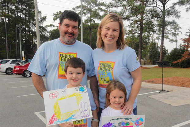 Mary Catherine and her family enjoyed walking in the Shallotte, NC, CROP Hunger Walk. Photo: Ruth Ann Grothe