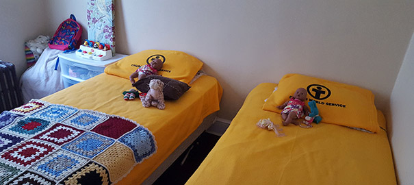 CWS Blankets on the beds. Photo: Patrick Walker / CWS