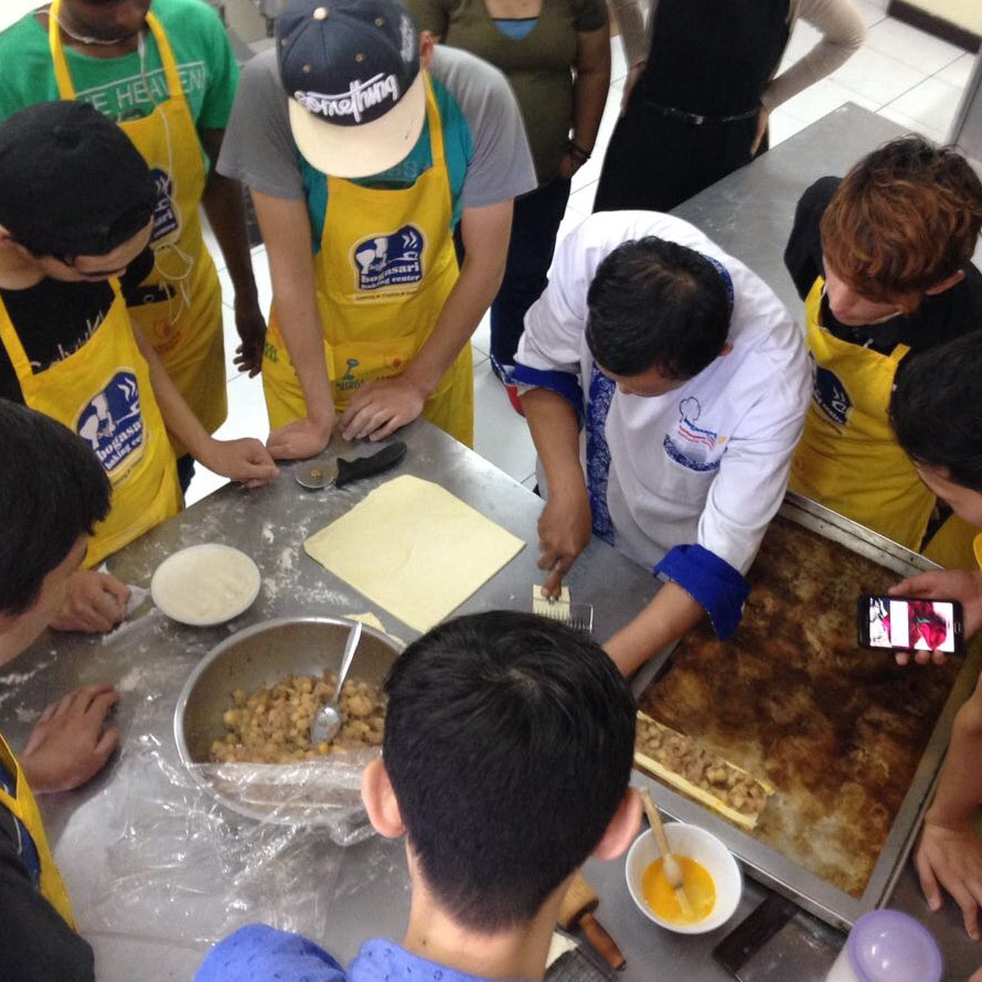 Refugee minors Jakarta cooking class blog